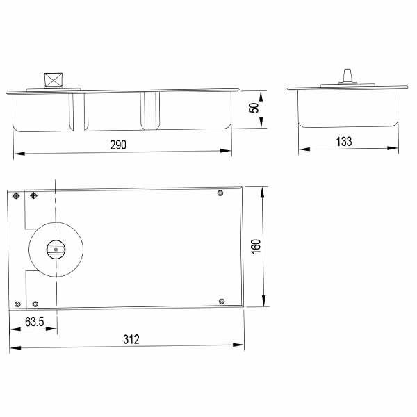 Floor Hinge (HD 508A)