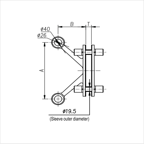Spider Fittings - L200A25